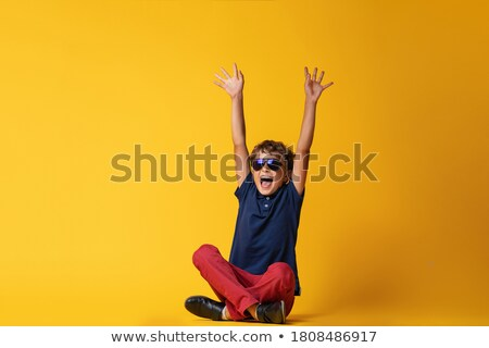 Cheerful little boy celebrating his summer holiday Stock photo © ozgur