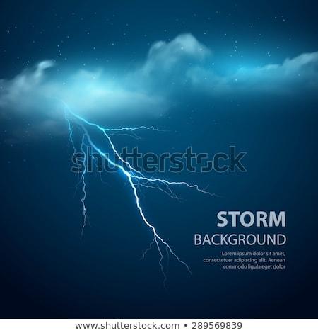 синий Молния дождь прибыль на акцию 10 прозрачный Сток-фото © beholdereye