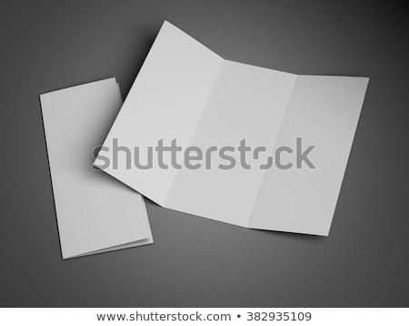 Folheto folheto ziguezague dobrado estúdio ilustração 3d Foto stock © cherezoff