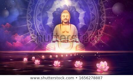 Buda heykel örnek çiçek zambak Stok fotoğraf © adrenalina