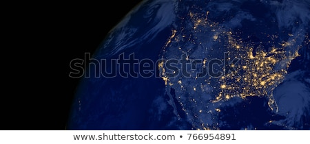 north america canada usa from space stock photo © hermione
