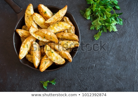 rustic potato with ketchup Stock photo © M-studio