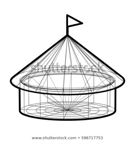 Vektör sirk çadır tel kafes form siyah Stok fotoğraf © m_pavlov
