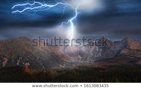 Verão montanha tempestade Colorado distância Foto stock © pancaketom