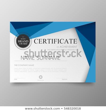 modern premium certificate award design template Stock photo © SArts