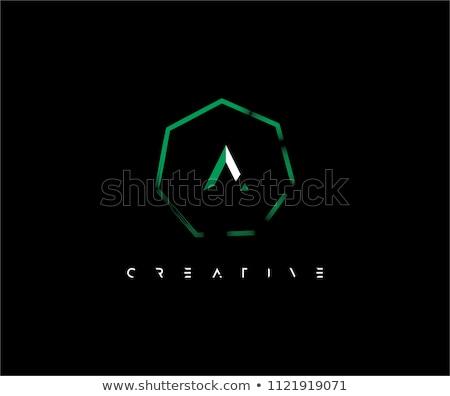 письме внутри красочный шестиугольник форма аннотация Сток-фото © user_11138126
