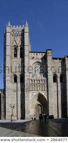 Cathedral of avila in Spain. Arch in principal front entry Stock photo © Photooiasson
