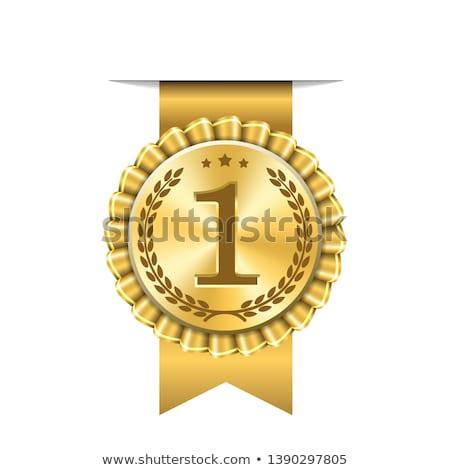 winner 1st star label design Stock photo © SArts