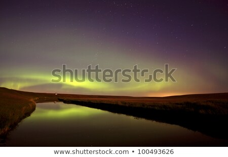 Northern Lights reflected off Moose Jaw River Stock photo © pictureguy