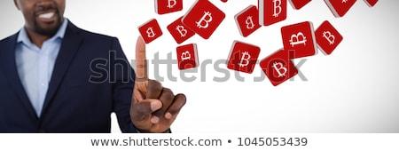 fókuszált · üzletember · áll · mutat · fehér · kéz - stock fotó © wavebreak_media
