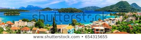Panoramic view of Nidri bay, beautiful Lefkada island. Greece stock photo © Freesurf