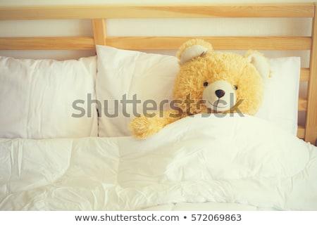 Wake up Teddy Bear Stock photo © derocz