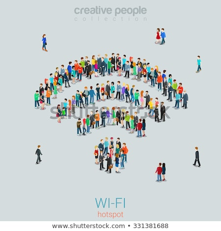 Wi-Fi Point Icon with Set Stock photo © ahasoft