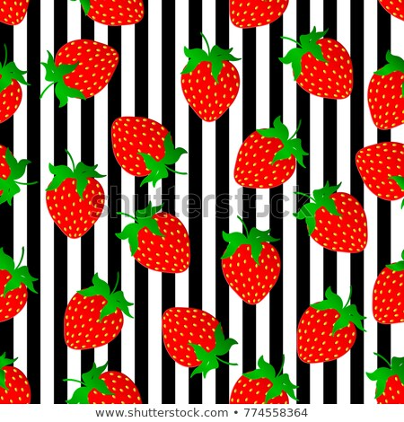 Strawberry seamless pattern. Berry endless background, texture. Fruits background. Vector illustrati Stock photo © lucia_fox