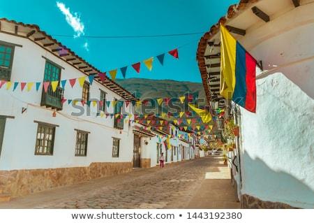 Kolonialny architektury willi Kolumbia 17 średniowiecznej Zdjęcia stock © Quasarphoto