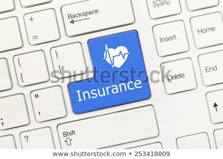 Blue Health Insurance Button on Keyboard. Stock photo © tashatuvango