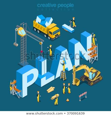 Afaceri plan creare Servicii 3D concept Imagine de stoc © tashatuvango