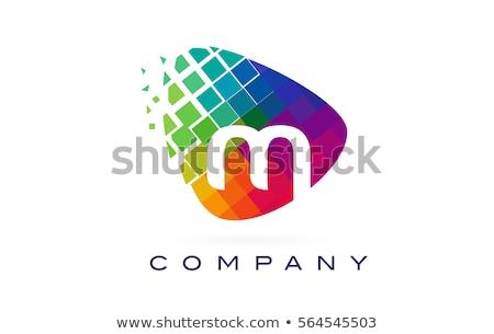Mektup m renk logo şablon vektör dizayn Stok fotoğraf © krustovin