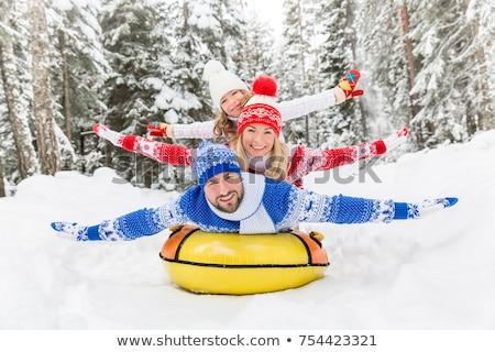 çocuklar kış kar gün arkadaşlar Stok fotoğraf © FOTOYOU