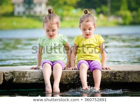 gêmeo · meninas · outro · família · amor · mulheres - foto stock © is2