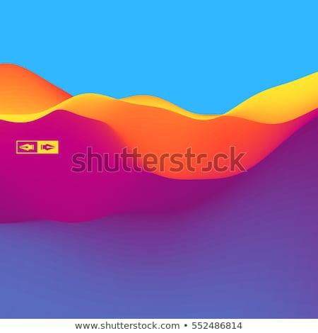 Ondulado dinâmico ilustração modelo de design negócio fundo Foto stock © alexmillos