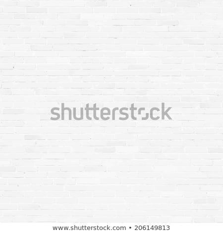 Brick wall, white relief texture with shadow stock photo © sidmay