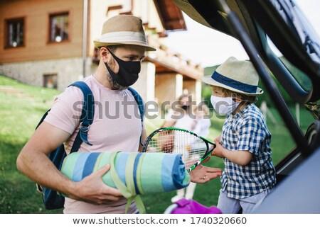 famille · confrontation · père · en · fils · enfants · visage · homme - photo stock © is2