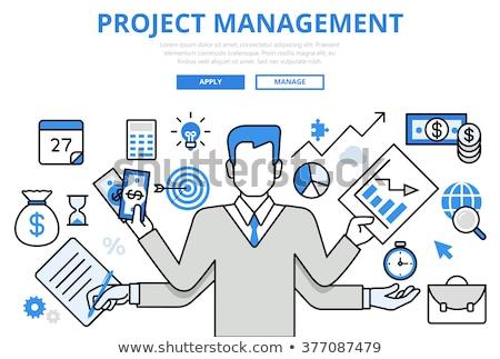 Business management line banner Stock photo © Genestro