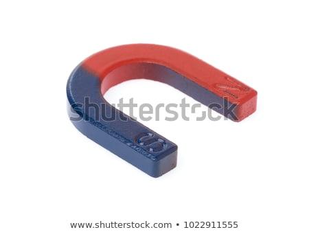 Patkó mágnes fehér izolált fém piros Stock fotó © ajt