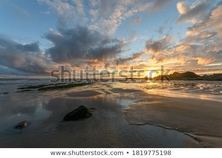 güzel · renkler · gün · batımı · bulutlar · gökyüzü · soyut - stok fotoğraf © juhku