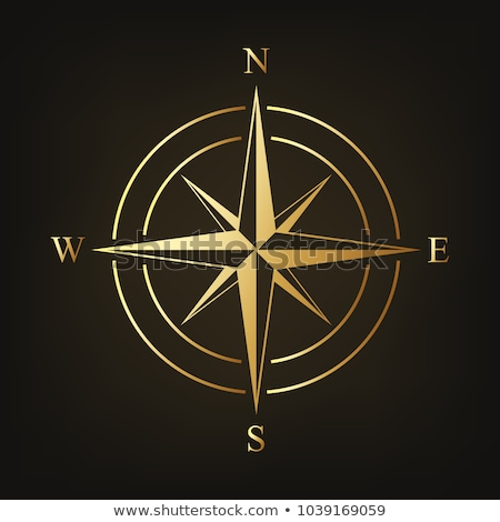 gold compass stock photo © milsiart