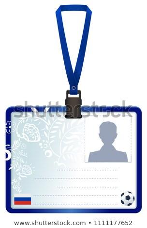 Licença cartão russo futebol Foto stock © orensila