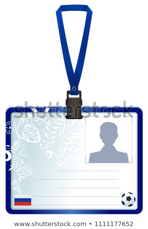 permit id card for russian soccer press conference stock photo © orensila