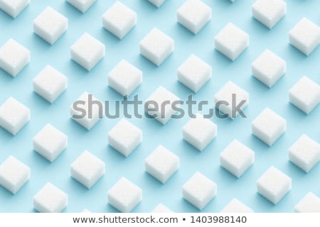 white sugar cubes stock photo © Digifoodstock