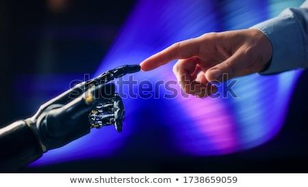 futurista · tecnologia · homem · máquina · juntos - foto stock © lightsource