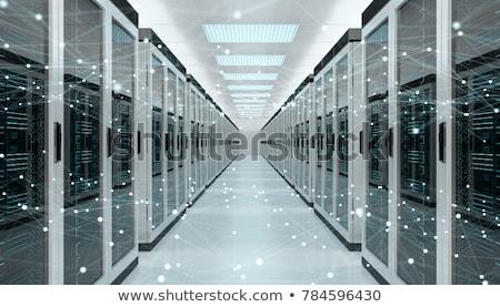 Modern adatközpont szoba absztrakt magas tech Stock fotó © kyolshin