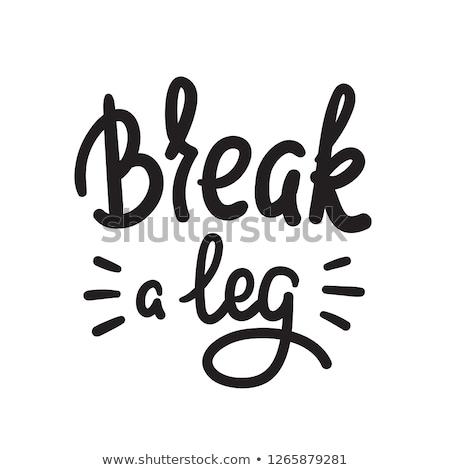 Törik láb tipográfia illusztráció oktatás olvas Stock fotó © lenm