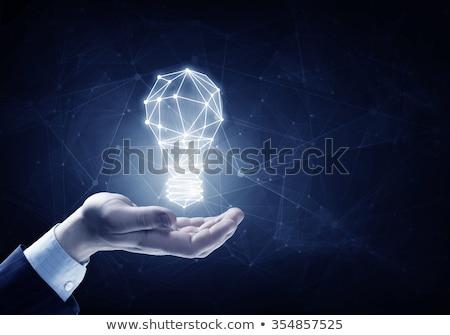 ビジネスマン · 手 · 電球 · 暗い · 男 - ストックフォト © ra2studio