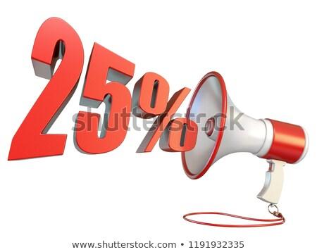25 yüzde imzalamak megafon 3D Stok fotoğraf © djmilic