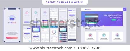Tarjeta de débito aplicación interfaz plantilla caja de regalo usuarios Foto stock © RAStudio
