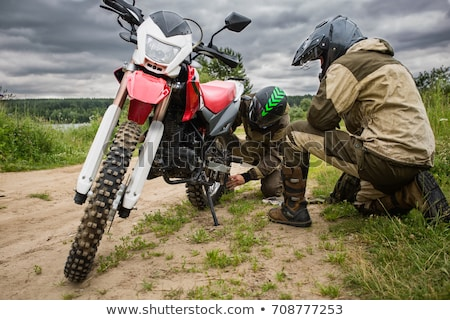 Motosiklet arka tekerlek spor çapraz bisiklet Stok fotoğraf © homydesign