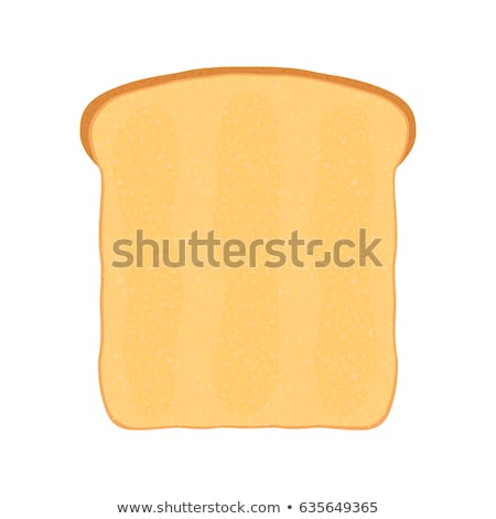 Foto d'archivio: Fresh Bread Toast For Breakfast Made In Cartoon Style