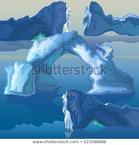 Foto stock: Mar · gelo · céu · beleza · montanha · oceano