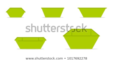 Metal Waste and Container Vector Illustration Stock photo © robuart