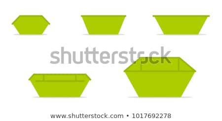 Metal odpadów pojemnik pomarańczowy godło recyklingu Zdjęcia stock © robuart