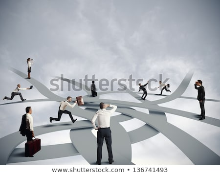 Stock fotó: Stratégiai · ösvény · üzlet · siker · telitalálat · irányítás