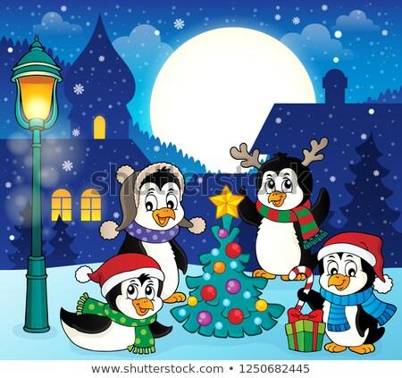 Рождества изображение счастливым искусства зима ночь Сток-фото © clairev