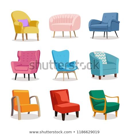 Set moderno colorato soft poltrona divano Foto d'archivio © MarySan