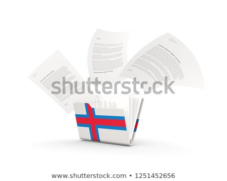 folder with flag of faroe islands stock photo © mikhailmishchenko