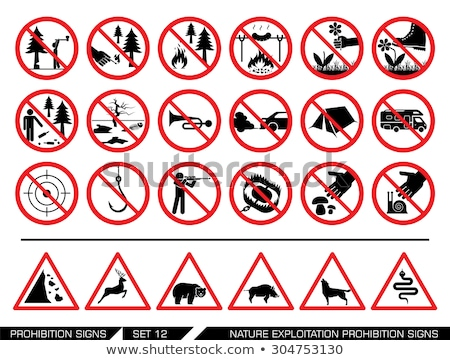 hunting prohibition icon Stock photo © adrenalina